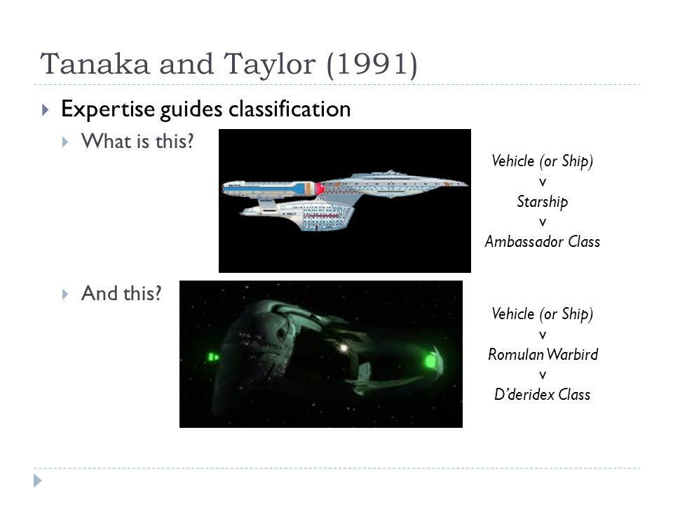Tanaka and Taylor (1991)  Bird experts vs.