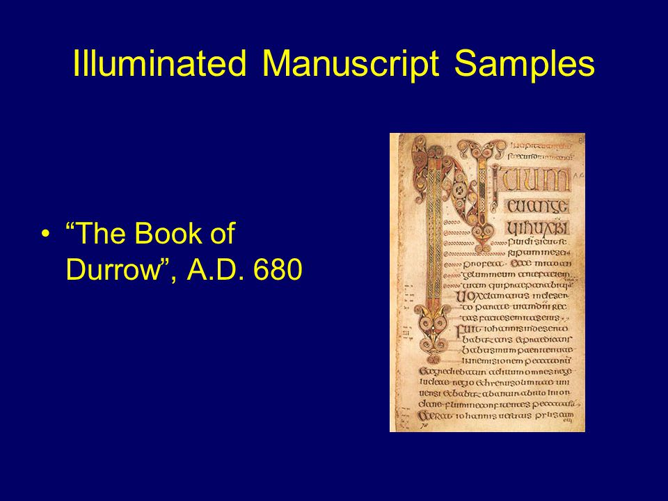 Illuminated Manuscript Samples Comments on the Psalms 1200 A.D.