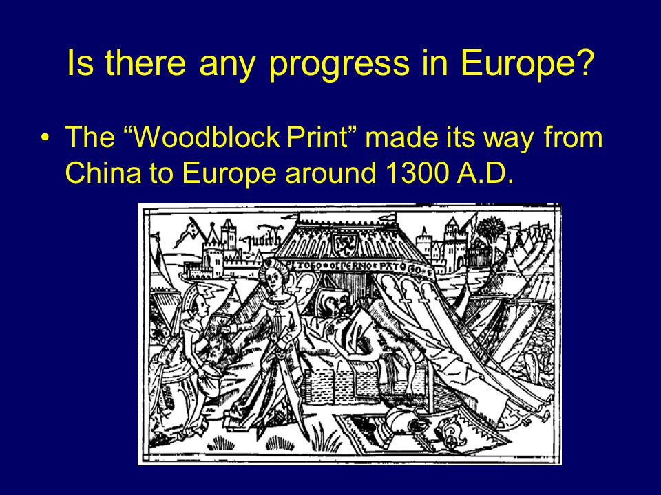 One of the First Objects Created from Woodblocks in Europe…
