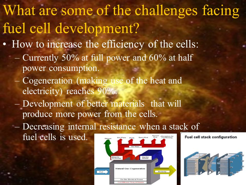 What are some of the challenges facing fuel cell development.