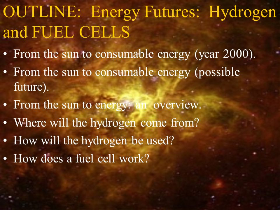 Summary Slide (cont.) What is a fuel cell system.What is the history of the fuel cell.