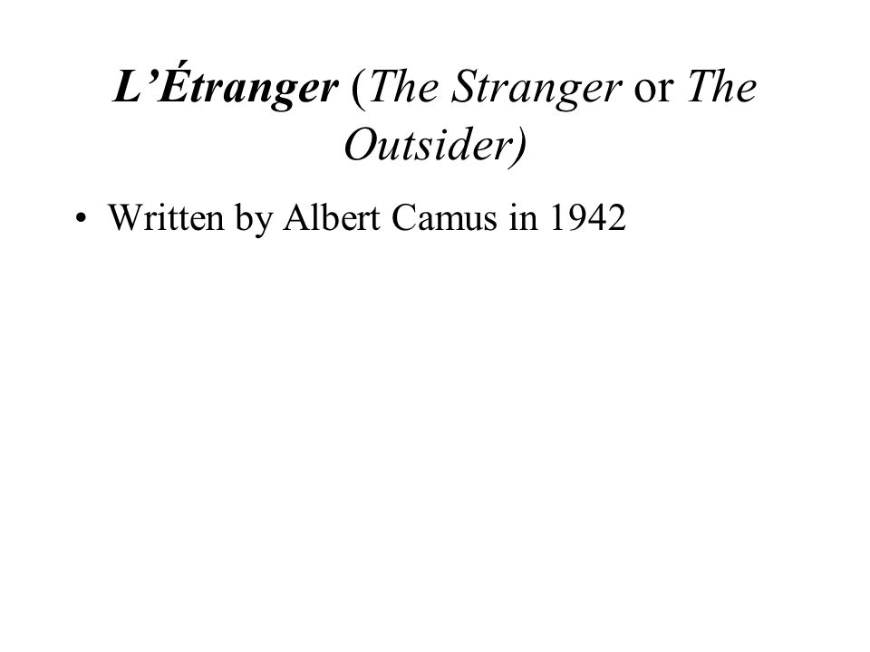 Albert Camus dissociated himself from the existentialists but acknowledged man's lonely condition in the universe.