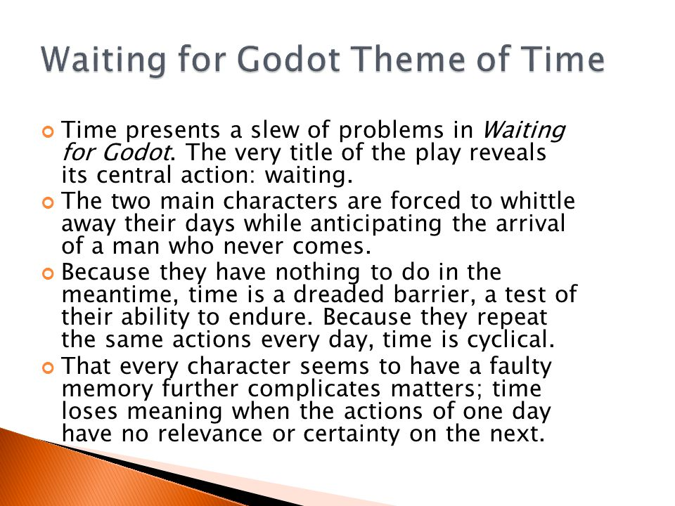 Time presents a slew of problems in Waiting for Godot.