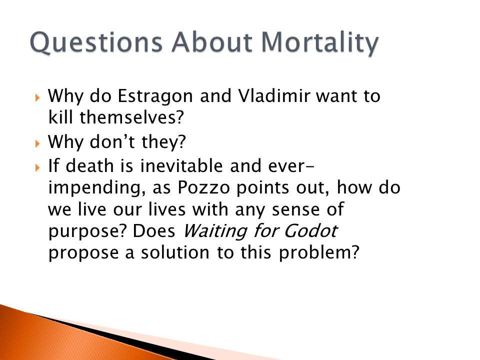  Why do Estragon and Vladimir want to kill themselves.