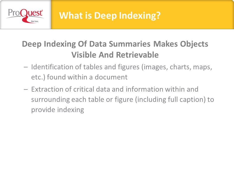 Deep Indexing: A New Approach to Searching Scholarly Literature