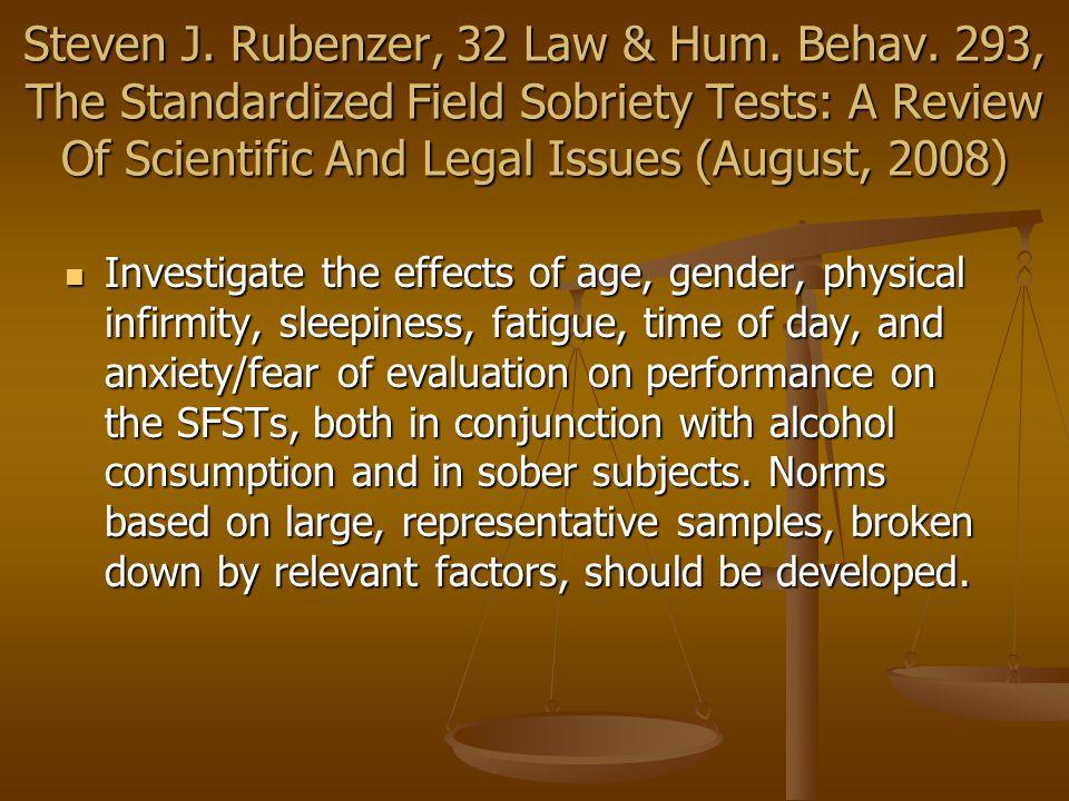 SFSTs - HGN Schultz v.State, 106 Md.App. 145, 664 A.2d 60 (1995) Schultz v.