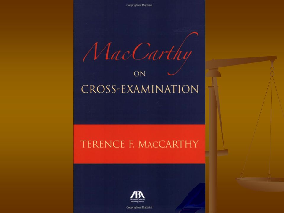 McCarthy cross Look good Look good Tell a story Tell a story Use short statements Use short statements