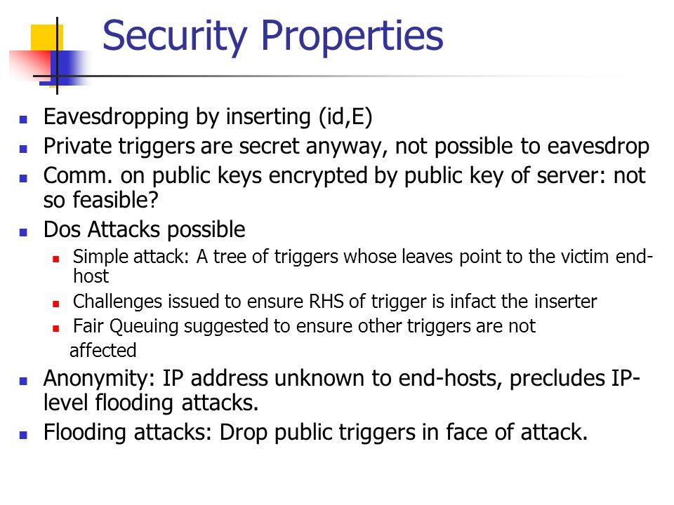Security Enhancement A more complete solution proposed in later work to fix loopholes in I3.