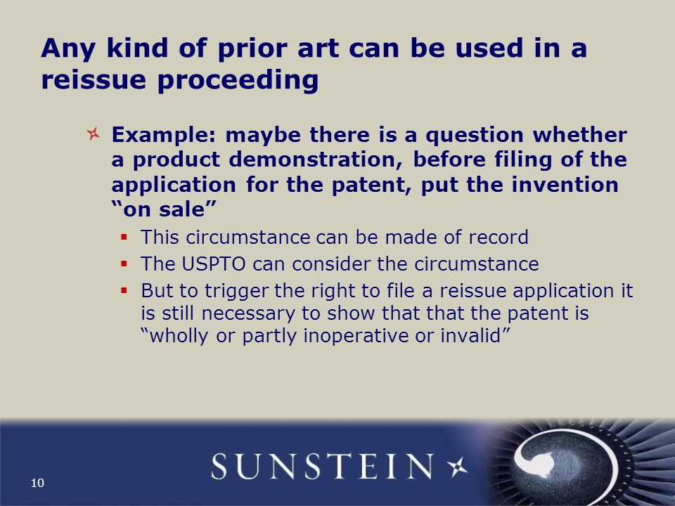 Reissue example: Patent 4,927,421 11 Prior art references cited in obtaining the patent