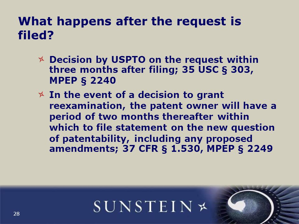 What happens after the request is filed.