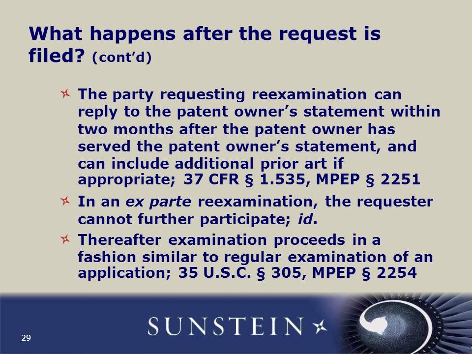 When is USPTO in ex parte reexam bound by the courts.