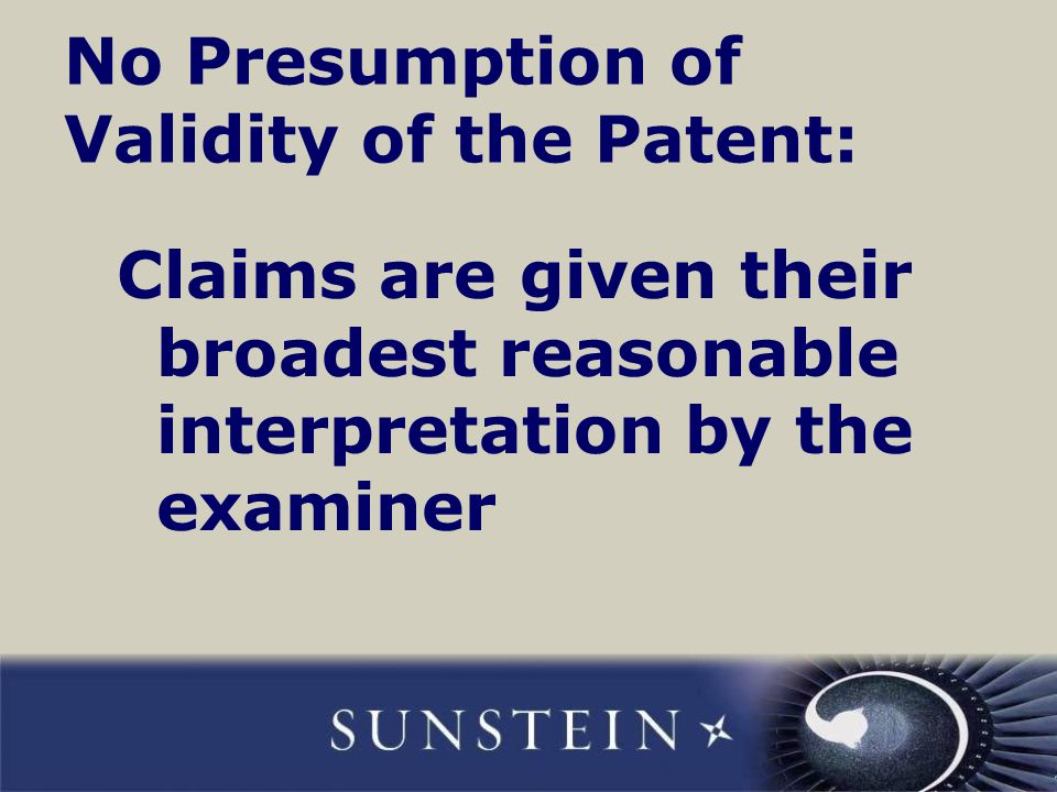 Inter partes reexamination: example We had a client seeking to clear patent roadblocks in the marketplace We analyze a series of patents in the marketplace and decide that some key ones of them are vulnerable For a number of vulnerable patents, we file requests for inter partes reexamination The USPTO grants all requests and issues first office actions rejecting all claims of all of the patents, forcing the patent holders to drastically narrow claim scope of their patents 49