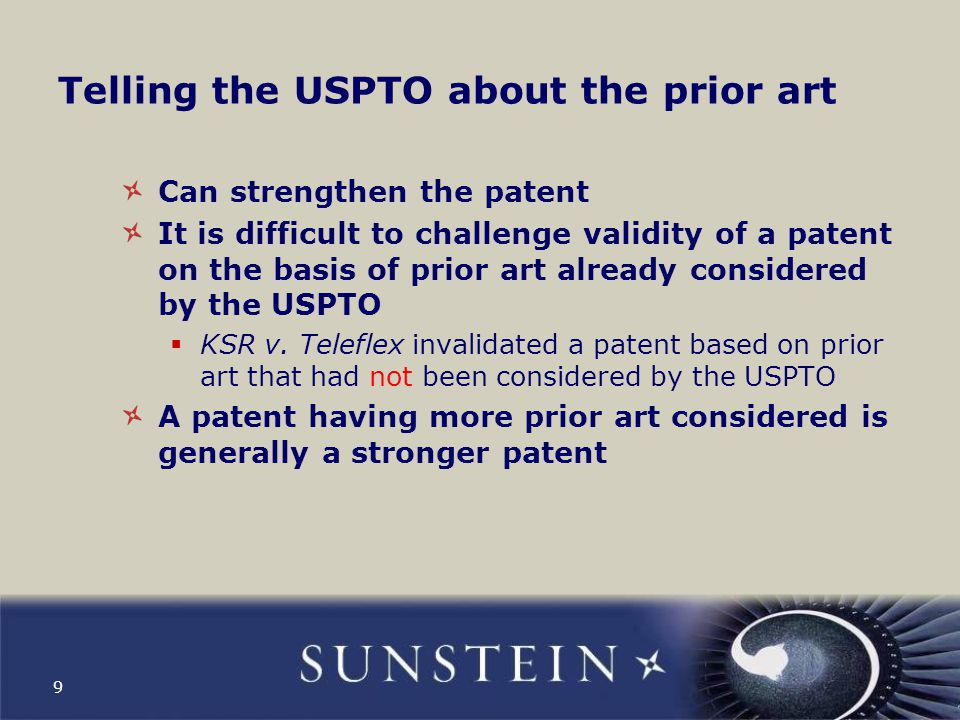 Any kind of prior art can be used in a reissue proceeding Example: maybe there is a question whether a product demonstration, before filing of the application for the patent, put the invention on sale  This circumstance can be made of record  The USPTO can consider the circumstance  But to trigger the right to file a reissue application it is still necessary to show that that the patent is wholly or partly inoperative or invalid 10