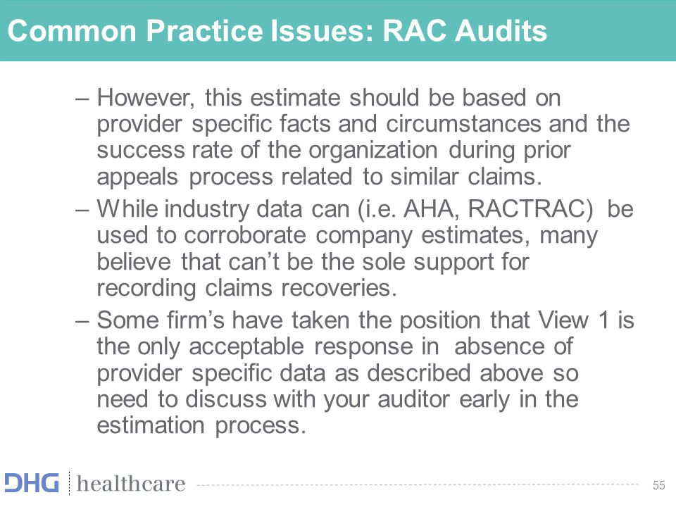 56 Program Integrity Audits (Cont'd) Recovery Audit Contractors (RACs) Recent CMS 68% Settlement Offer –All outstanding appeals of denied short-term IP stays –Hospitals had 14 days to submit final list of claims and signed Administrative Agreement after accepting –Deadline to accept was 10/31/14 56