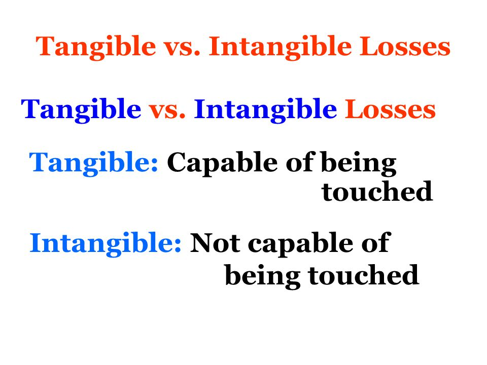 Intangible Losses Most significant intangible losses Loss of Safety Loss of Purpose Loss of Significance Loss of Authenticity Loss of Eligibility Loss of Hope Loss of Dignity Loss of Power If left unresolved precipitate RAGE David Damico