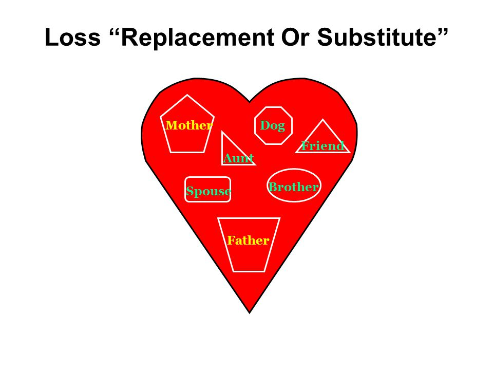 Loss Replacement Or Substitute Dog Brother Friend Aunt Spouse Father Step Mother Mother Girl Friend