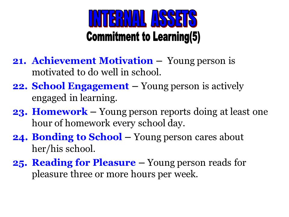 26.Caring – Young person places a high value on helping other people.