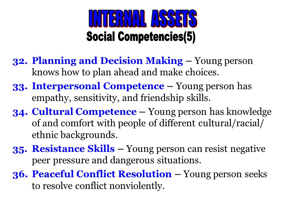 37Personal Power – Young person feels he/she has control over things that happen to me .