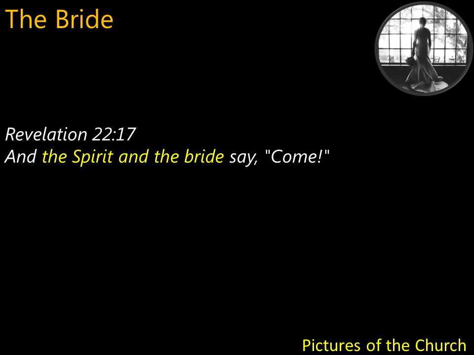 As the Bride, we must be in alignment and unity with the Spirit - hearing, saying, doing - what He desires, as He works in us, among us, through us, to prepare us for the Bridegroom God, Jesus Christ.