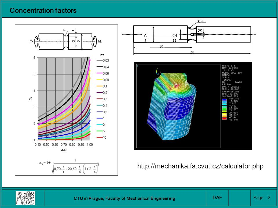CTU in Prague, Faculty of Mechanical Engineering DAF Page 3 Concentration factors https://www.efatigue.com/constantamplitude/stressconcentration/