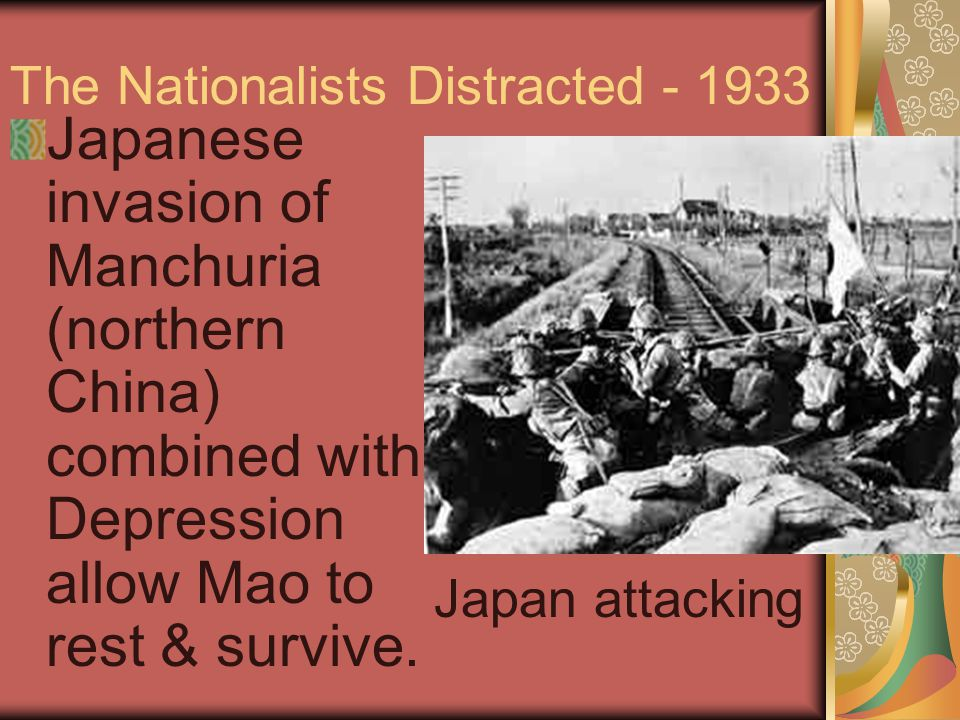Mao Rebuilds Army in WWII Under duress, Kuomintang and US use Mao as an ally.