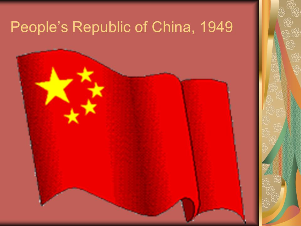 Maoism Only violent revolution could undo China's feudal past Peasants would comprise the Red Army (too few industrial workers in China).
