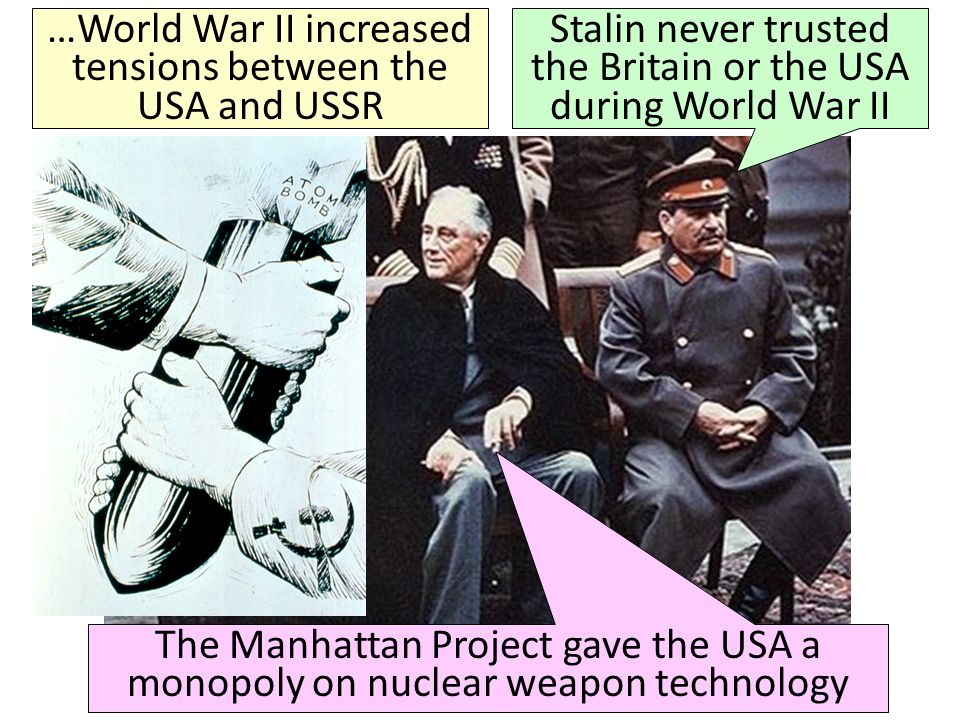 At the Yalta Conference, Stalin agreed to allow self-determination in Eastern Europe But, Stalin wanted a buffer zone between the USSR & the democratic nations in Western Europe Stalin used his military to install communist gov'ts in Eastern European nations