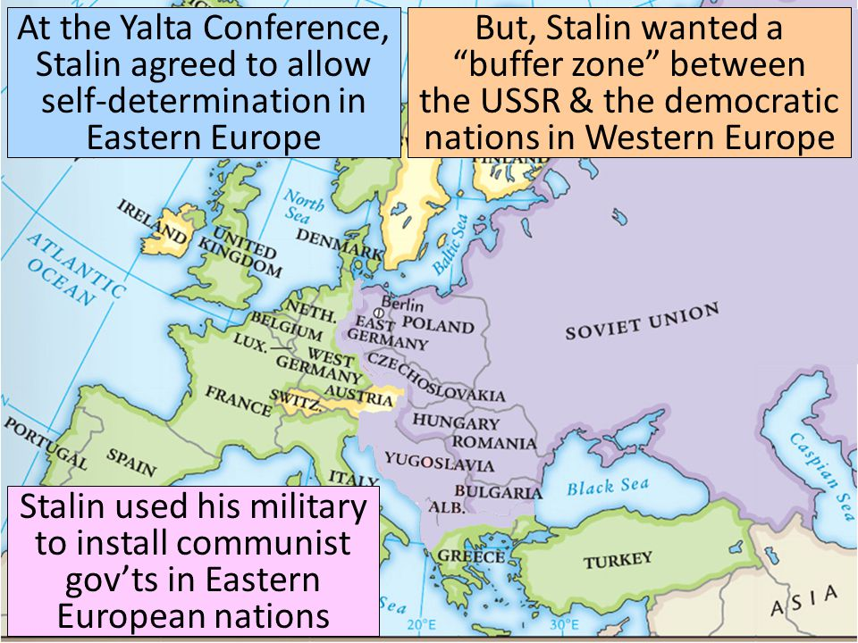 As a result, Eastern European nations turned communist & became Soviet satellites: nations that were influenced by the USSR In the years after World War II, the USA began to view Stalin as a new Hitler—a dangerous dictator who wanted to take over the world