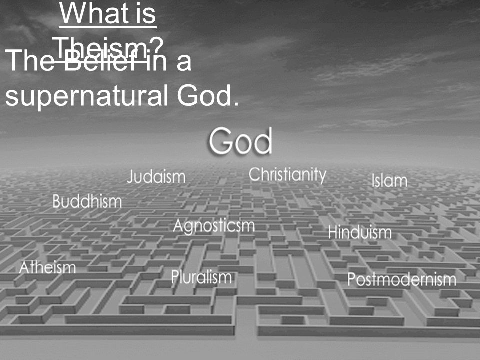 What are the 2 foundations upon which Christian theism rests?_________ and _________.