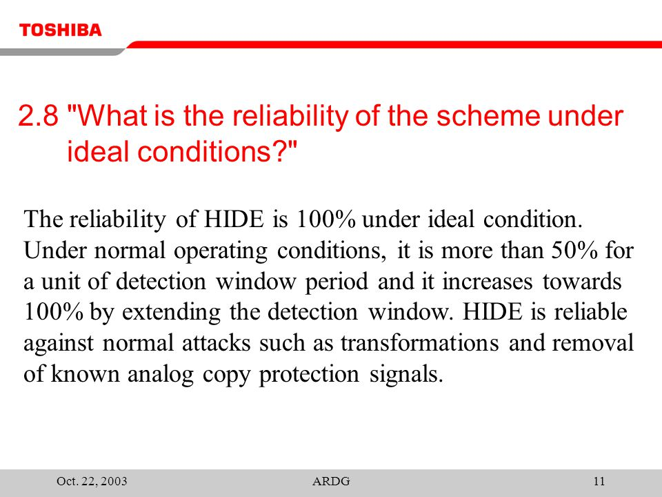 Oct.22, 2003ARDG12 3.1 In what form or aspect is the scheme itself upgradeable and/or renewable.
