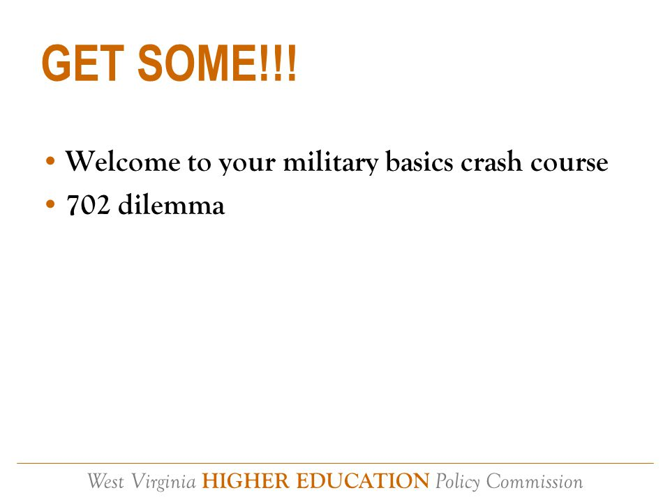 West Virginia HIGHER EDUCATION Policy Commission Thank You My supervisor: –Dr.
