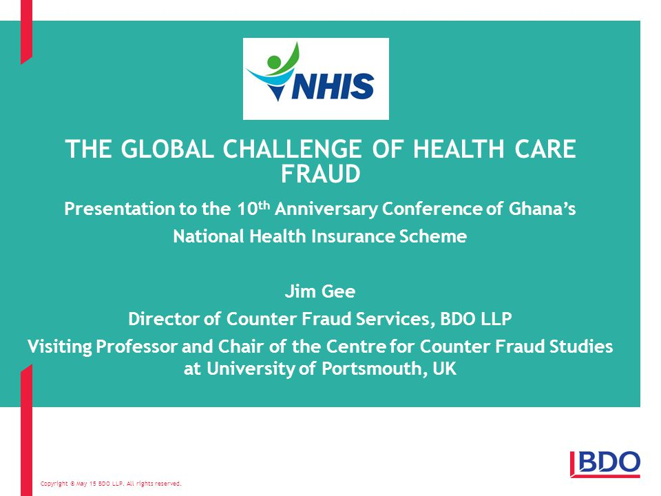 WHAT WILL BE COVERED Background What is healthcare fraud.