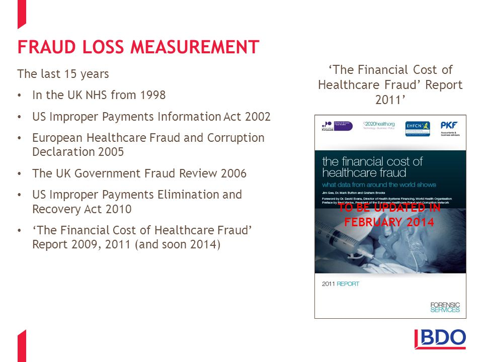 WHAT THE DATA SHOWS Where has healthcare fraud been accurately measured.