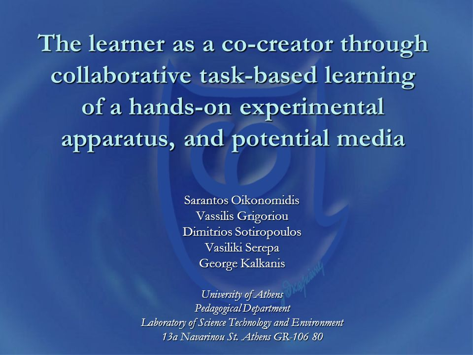 Introduction The new education emphasizes collaboration, critical thinking and creative problem solving.The new education emphasizes collaboration, critical thinking and creative problem solving.