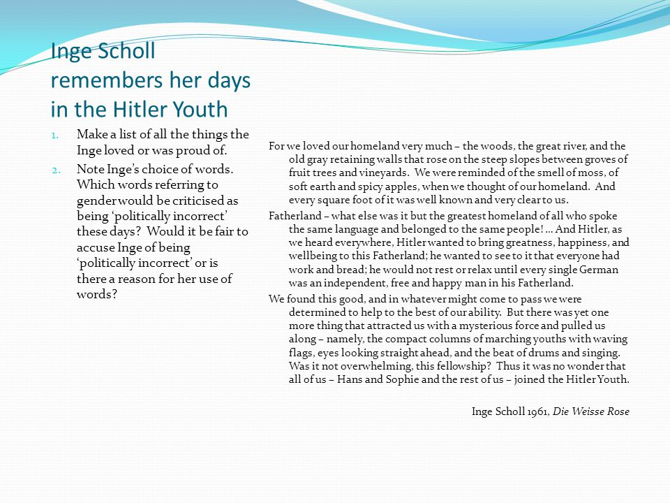 Hitler Addresses the Hitler Youth 1935 German Youth.