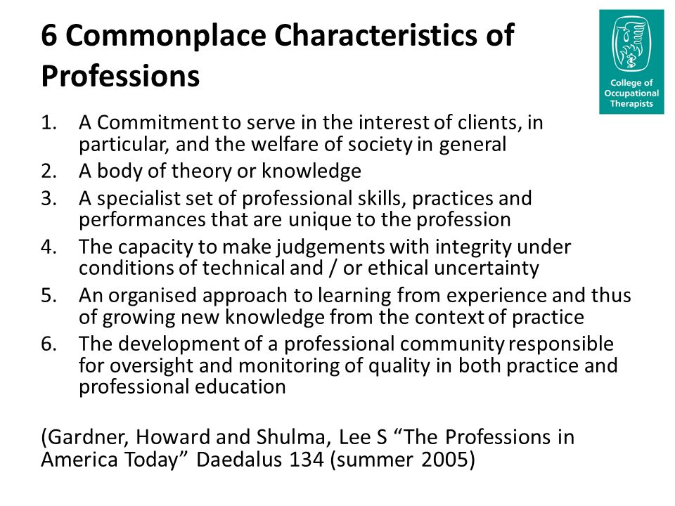 The Distinctive Characteristics of Professional Services.