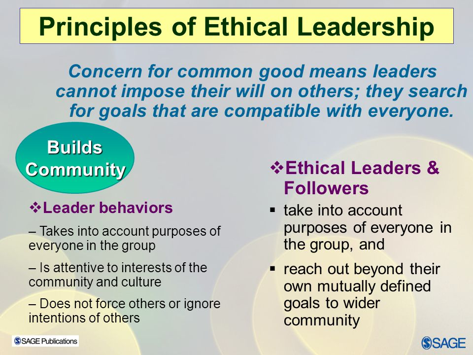 Chapter 15 – Leadership Ethics How Does the Ethical Leadership Perspective Work.