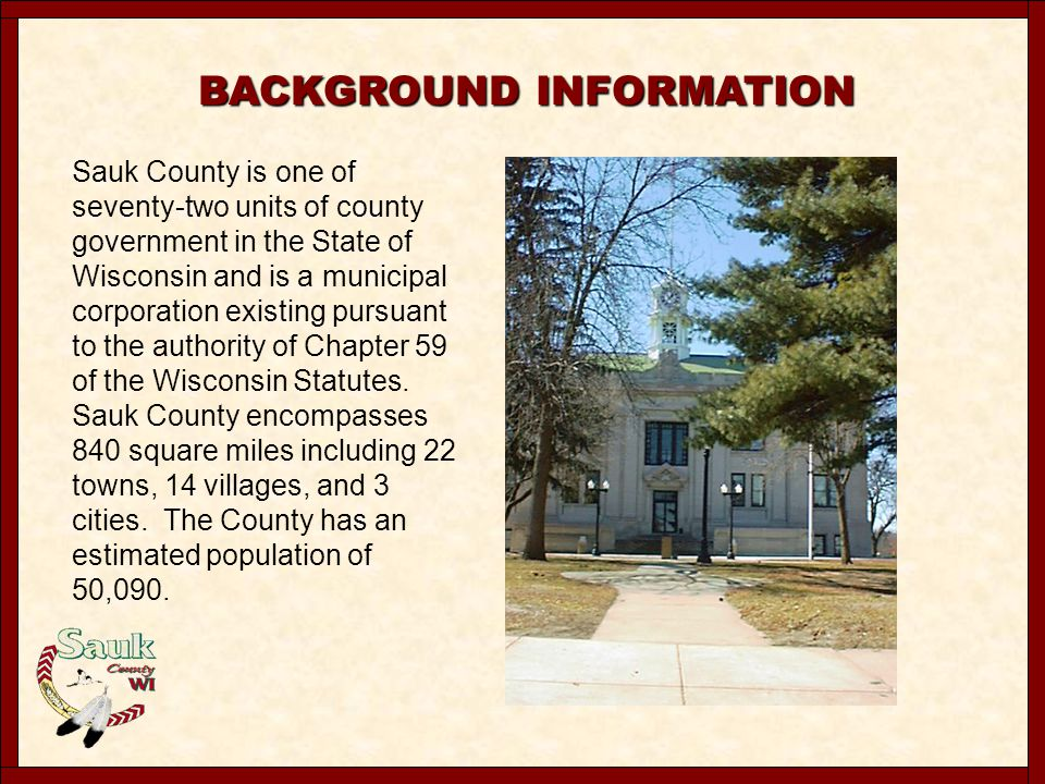 Mapping History Sauk County has a unique history with regard to maintenance and development of assessment maps and related tax information