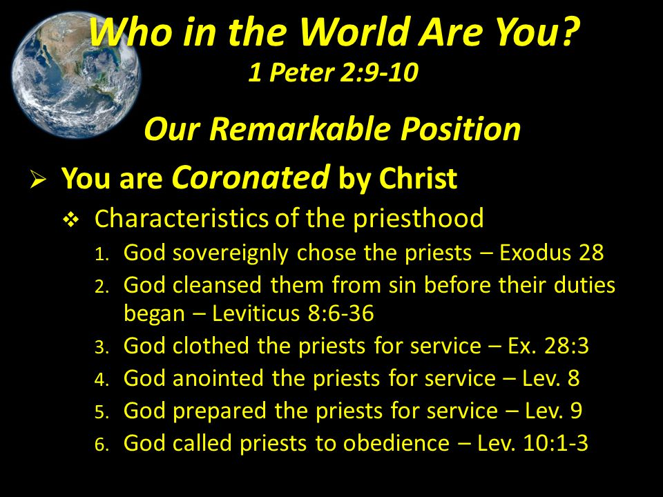 Our Remarkable Position  You are Connected in Christ  Literally means people who are set apart or separate, holy ones – Leviticus 19:1-2.