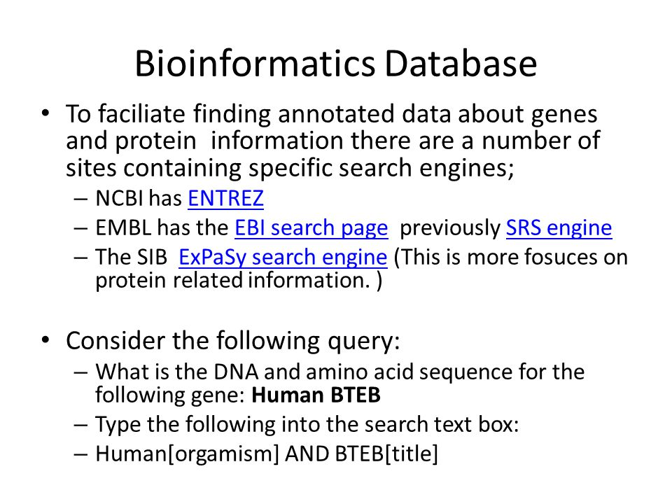 NCBI Entrez search page