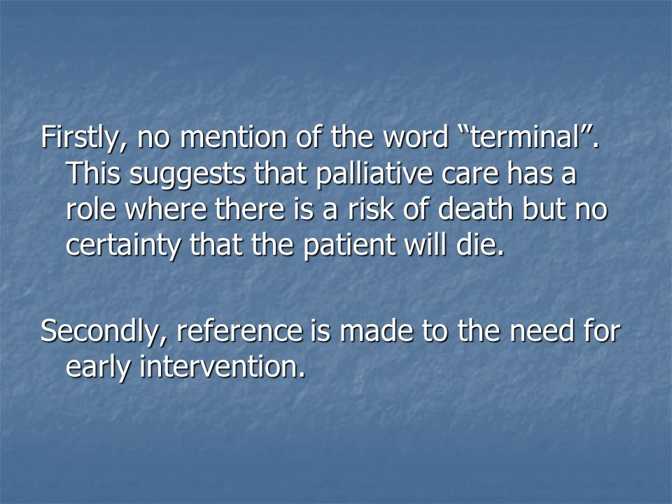 WHAT ARE THE PALLIATIVE CARE NEEDS OF STROKE PATIENTS?