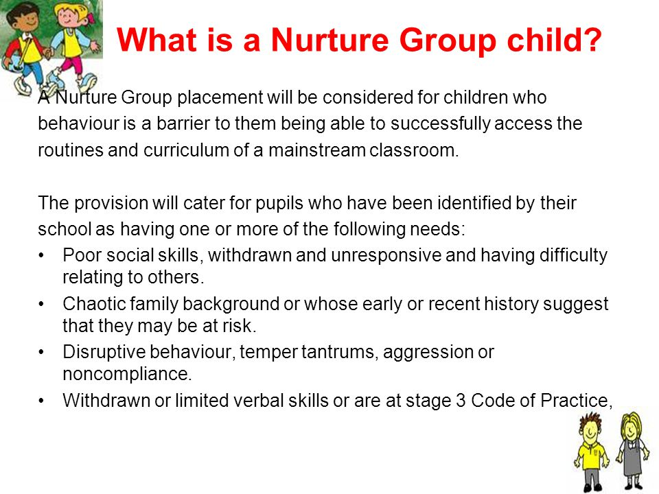How do adults work in Nurture Group.Model co-operation, sharing, discussion and exploration.