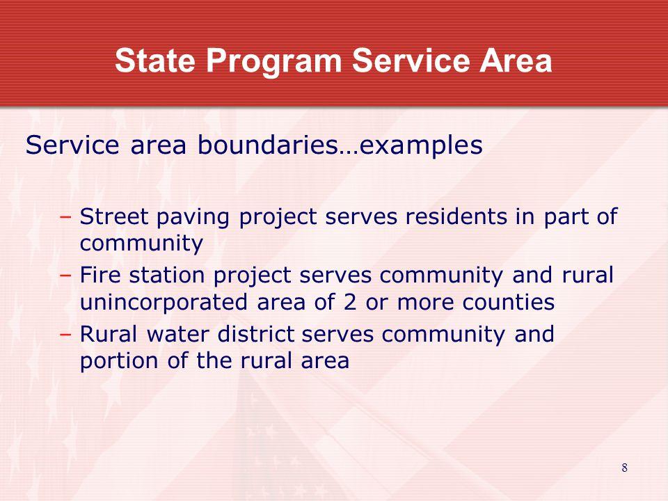 9 State Program Service Area True or False.