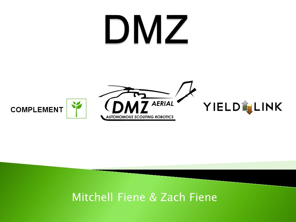  Zach Fiene & Mitchell Fiene ◦ Co-founders of DMZ Marketing ◦ Goal: Marketing for Agribusiness  Coops, Independent Retailers, etc.