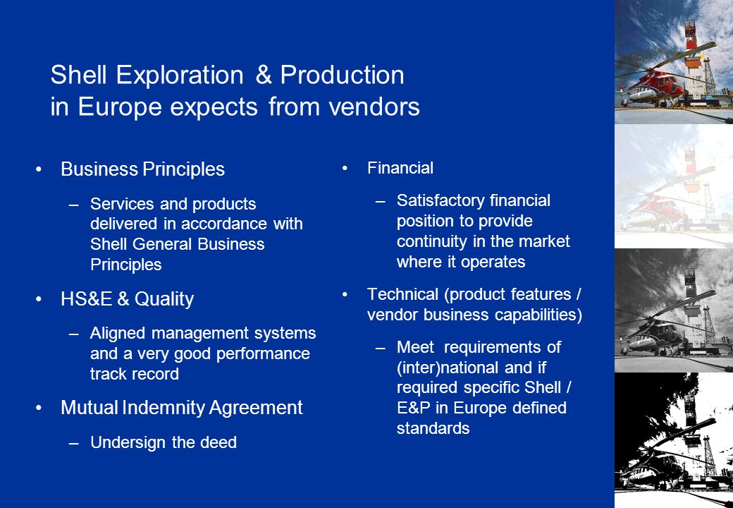 Shell Exploration & Production Copyright: Shell Exploration & Production Ltd. Norwegian Specifics
