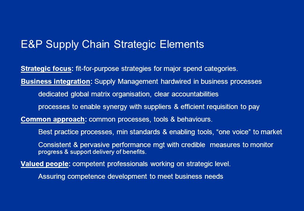 Global Category Management Dedicated capability across a majority of third party spend for major market categories Global strategies that support business objectives Making full use of market intelligence Sourcing contracts optimise total cost of ownership Post contract award: continually improve cost and value performance as well as ensuring contract compliance