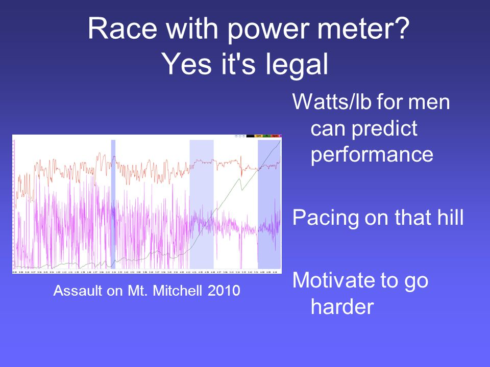 Can a power meter show when it s time to take extra recovery? Fatigued, stressed, or poorly recovered.
