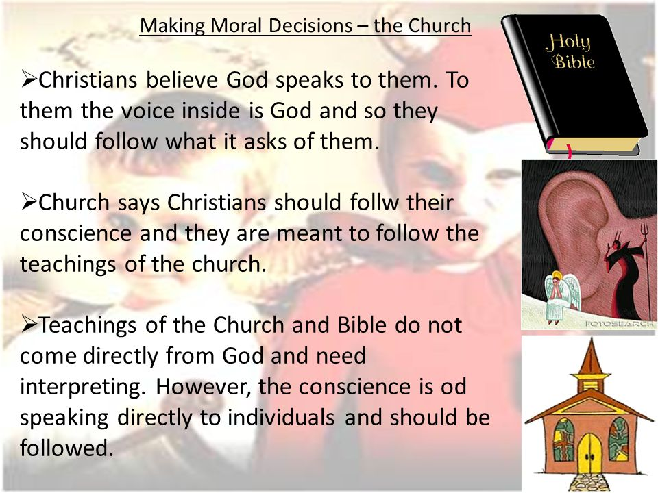 Why some Christians do not always follow their conscience Some have been mistaken about the voice of God.