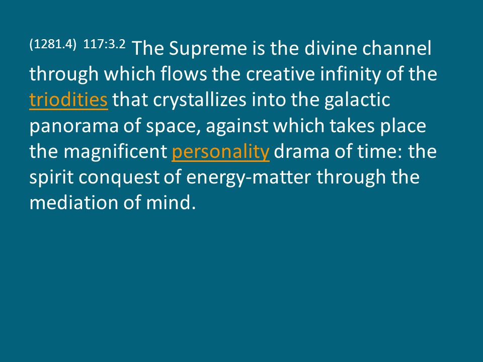 (1281.5) 117:3.3 Said Jesus: I am the living way, and so he is the living way from the material level of self-consciousness to the spiritual level of God-consciousness.