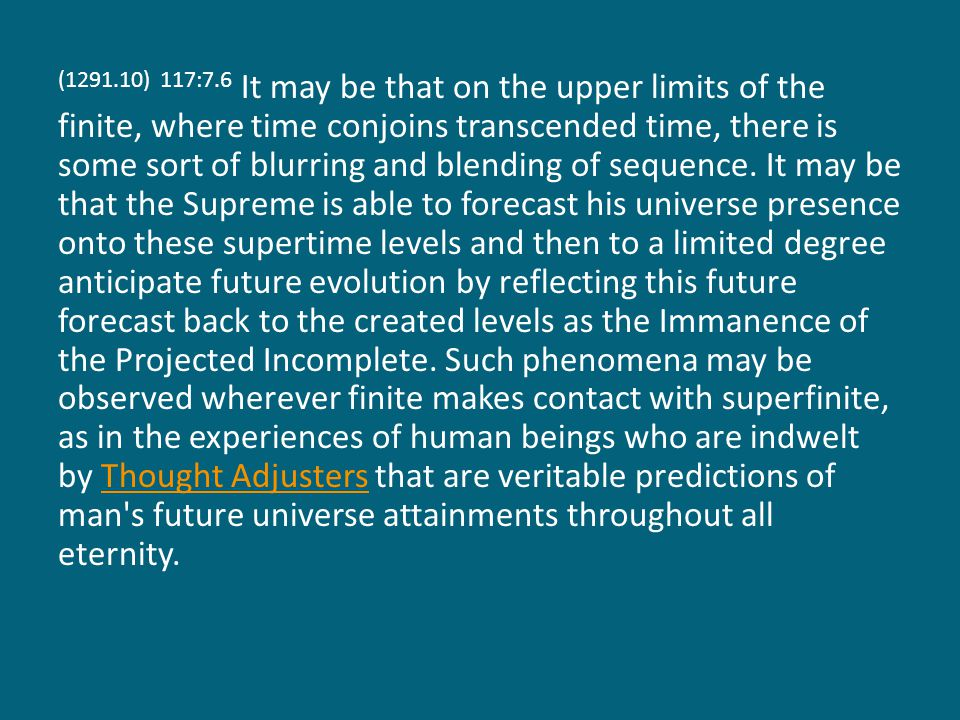 (1292.1) 117:7.7 When mortal ascenders are admitted to the finaliter corps of Paradise, they take an oath to the Paradise Trinity, and in taking this oath of allegiance, they are thereby pledging eternal fidelity to God the Supreme, who is the Trinity as comprehended by all finite creature personalities.